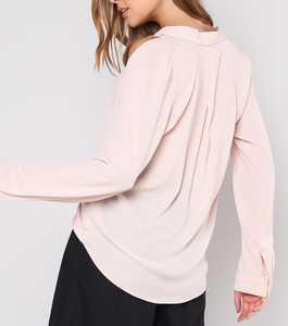 Blush Wrap Cross Blouse