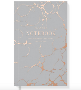 Gray Marble Planner Notebook