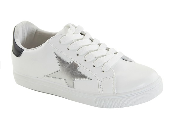 White Sneaker with Silver Star