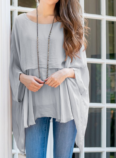 Katerina Grey 2-Layer Top