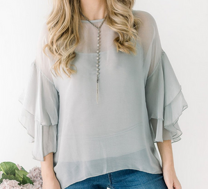 Charlotte Silk Layered Slv Top
