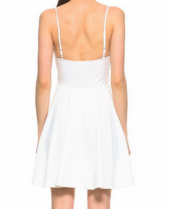 White Tank Fit Flare Dress