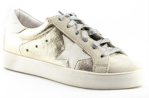 Metallic Star Tennis Shoes