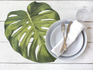 Die Cut Monstera Leaf Placemat