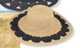 "Natural Heather 5"" Paper Circle Cutout Hat"