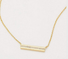 Nia Shimmer Bar Necklace