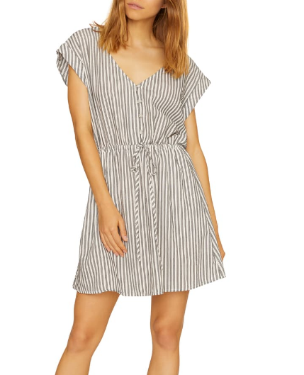 Sundrenced Striped Shirtdress