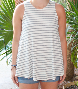 Grey Stripe Tank