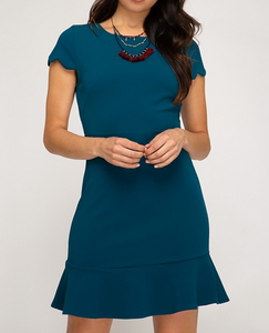 Peacock Cap Sleeve Dress