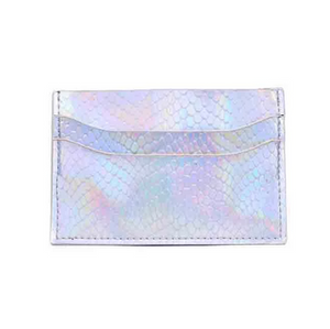 Silver Metallic Card Holder
