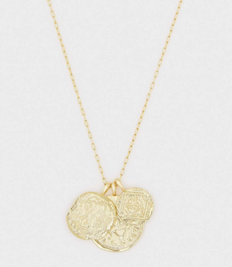 Ana Coin Pendant Necklace-gold