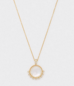 Eloise Gem Necklace-MOP