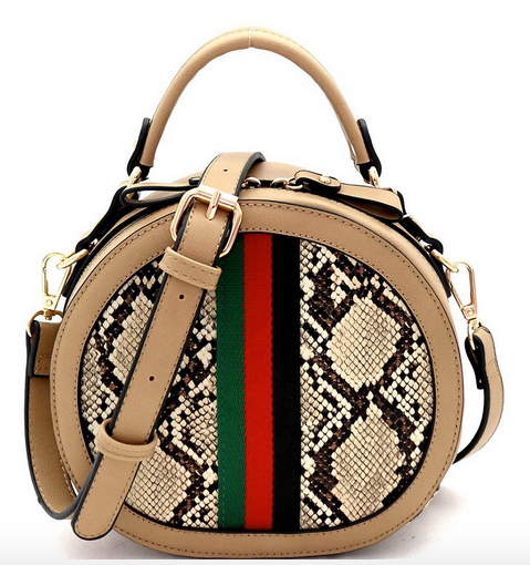 Color Block Stripe Rd. Bag