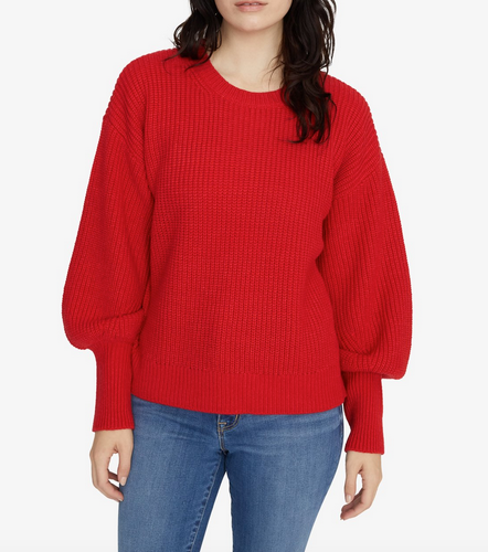 Party Red Turn Up Sweater