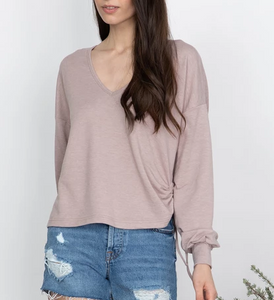 Long Sleeve Drawstring Top