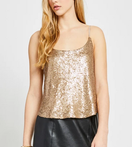 Gold Sequin Tank