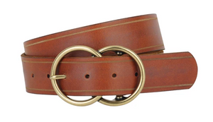 Tan Double Buckle Belt