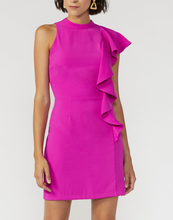 Fuchsia Flutter Sleeve Dress