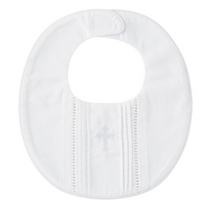 Pleated Christening Bib
