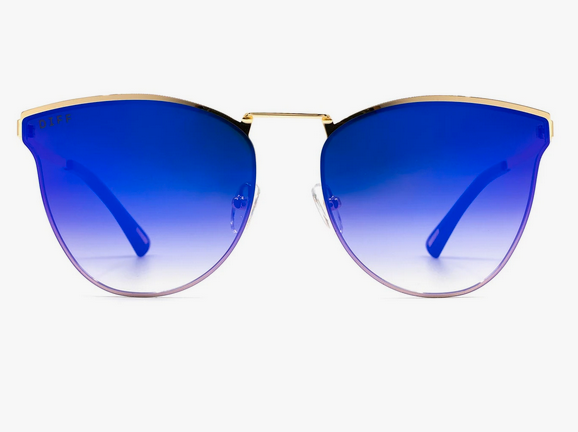 Sadie Gold & Purple Lens Sunglasses