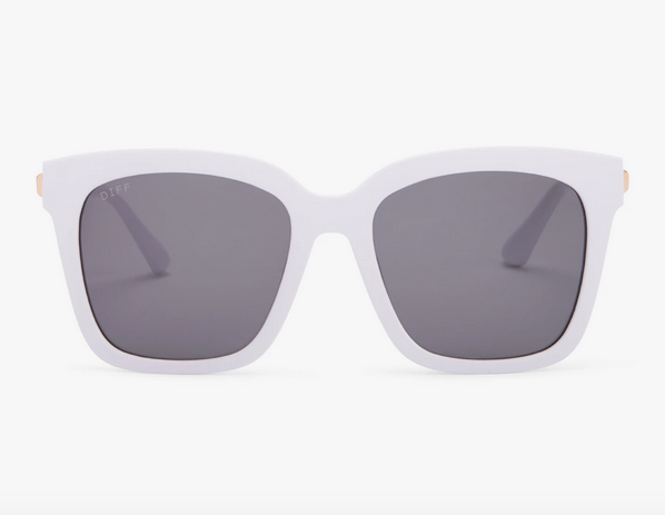 Bella White & Grey Lens Sunglasses