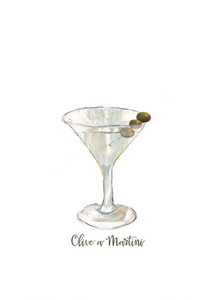 Olive a Martini Towel