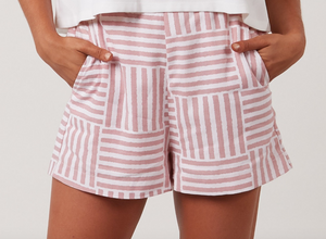 Pink Stripe Boxy Shorts