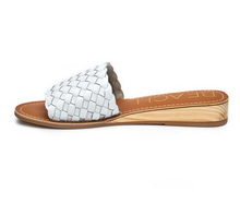 White Braided One Strap Slide