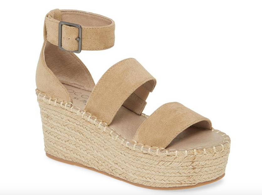 Natural Two Strap Wedge
