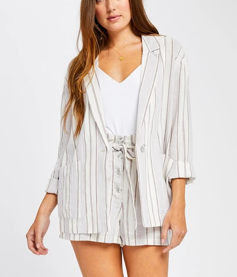 Grey Stripe Isla Blazer