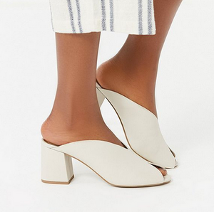 GD White Slit Front Wedge
