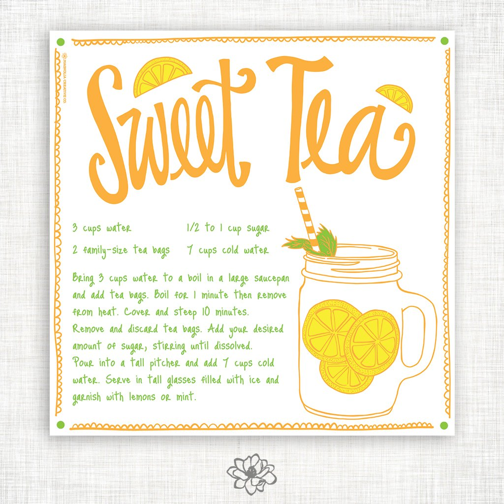 Sweet Tea Kitchen Towel