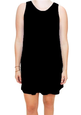 Black Scoop Neck Dress