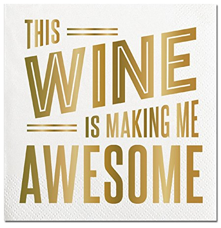 Beverage Napkins Wine Making Me Awesome