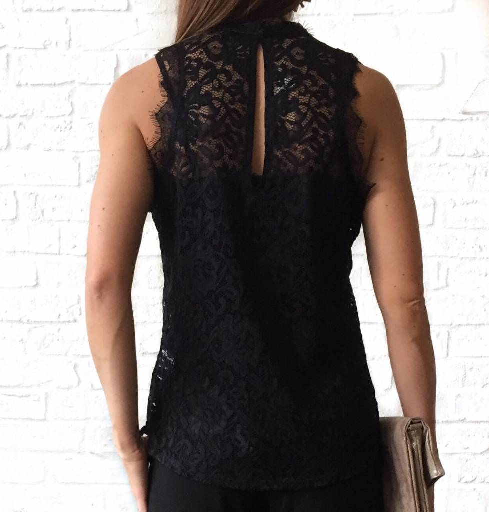 64f68c994a0e50 Black Lace Sleeveless Top · Black Lace Sleeveless Top