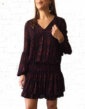 Black/Wine Floral Dress large