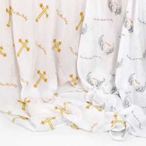 'Bless This Baby'' 2-Pack Swaddle set-GD