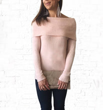 Blush Mello Sweater  small