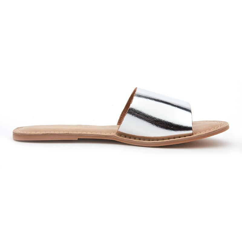 Silver One Strap Slides