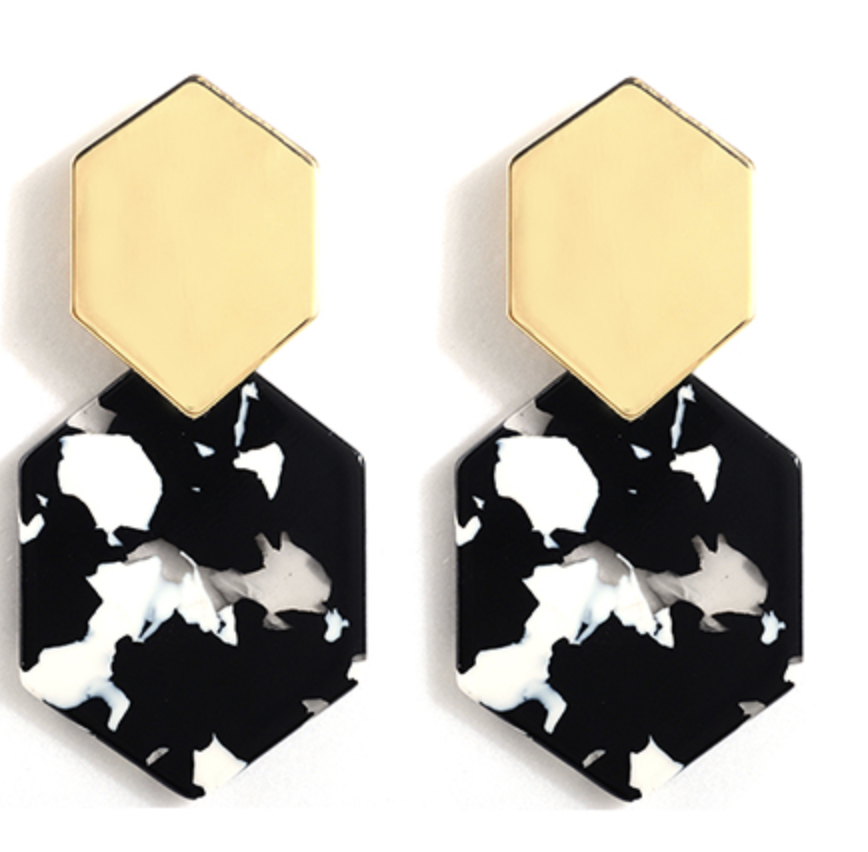 Claudette Resin Drop Earrings