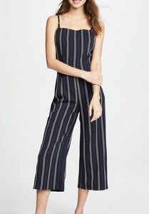 Navy Pin Stripe Jumpsuit