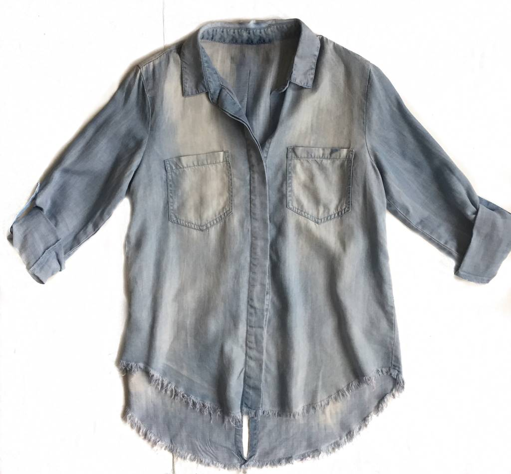 Denim Fringe Shirt-GD