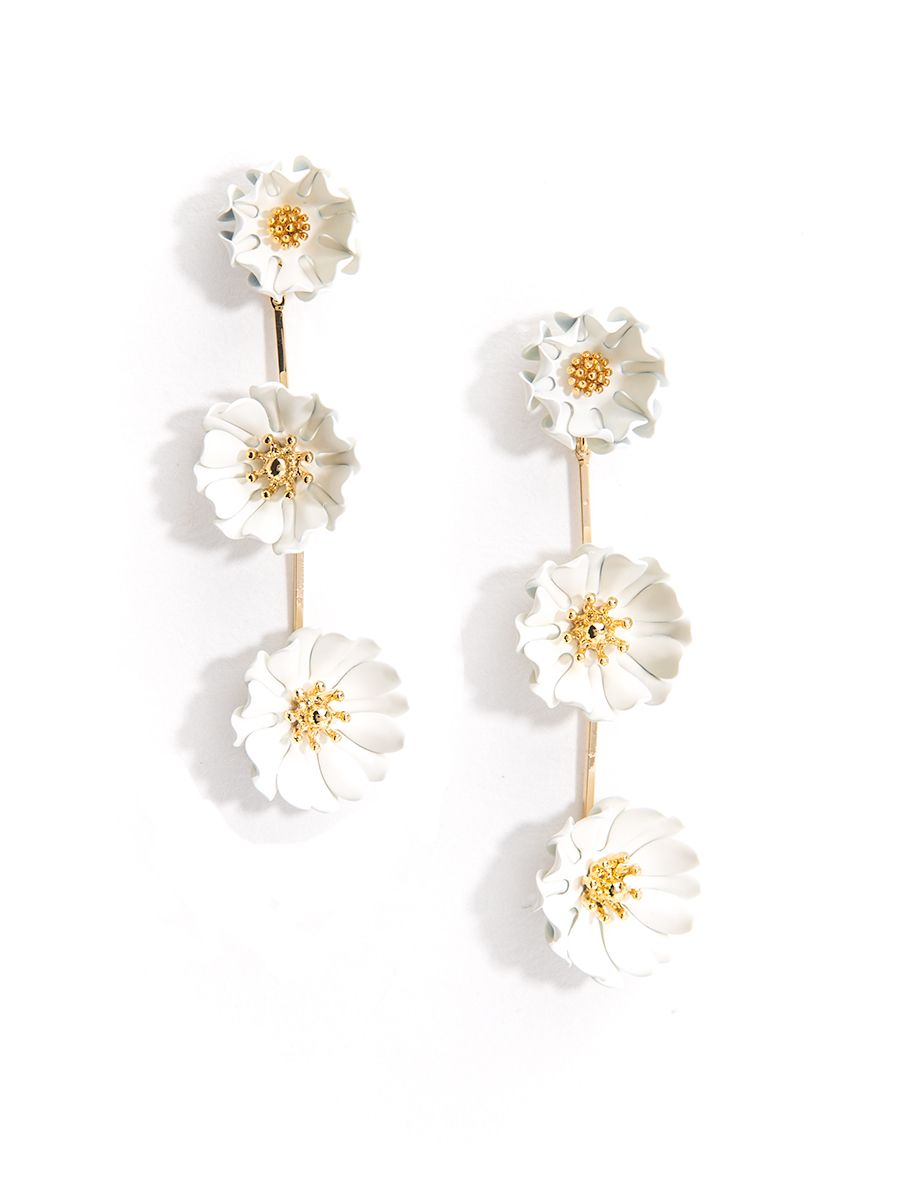 GD-3-Tier Daisy Drop Earring