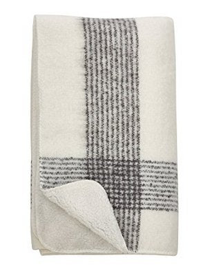 GD-Faux Mohair Sherpa Throw-Ivory