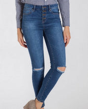Hallie Button Down Distressed Jeans
