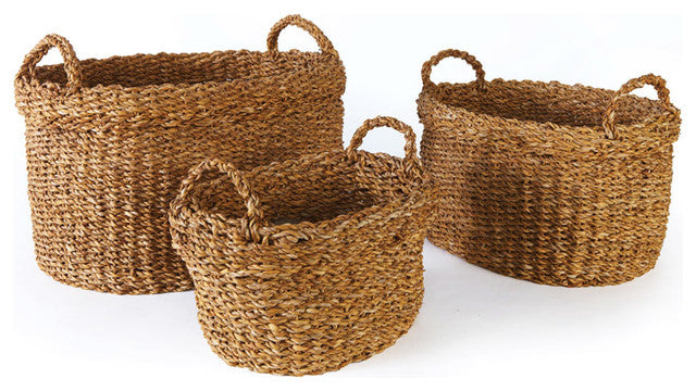15'' Seagrass Cuff Basket