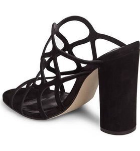 Honeycomb Black Block Heel-MR
