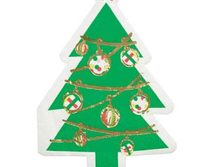 Die Cut Bev. Napkins Xmas Tree