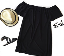 MR Black Off Shoulder Dress
