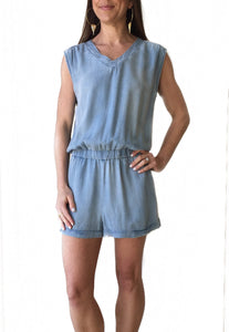 Vneck Denim Romper